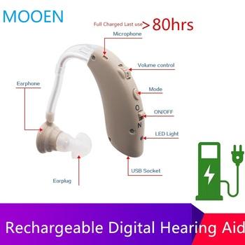 2020 nowy tanie akumulator aparat słuchowy mini urządzenie wzmacniacz ucha cyfrowe aparaty słuchowe BTE osoby w podeszłym wieku pielęgnacja uszu wzmacniacz słuchu tanie i dobre opinie NoEnName_Null