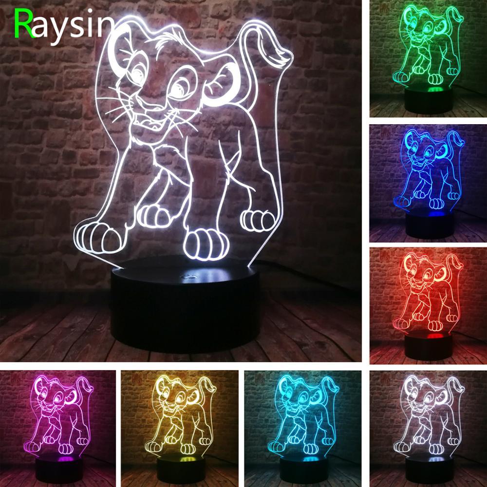 R 1633 33 De Descontofiguras De Ação Dos Desenhos Animados A Guarda Do Rei Leão Simba Kion Figurinhas 7 Cor Boa Noite Luz Crianças Brinquedos
