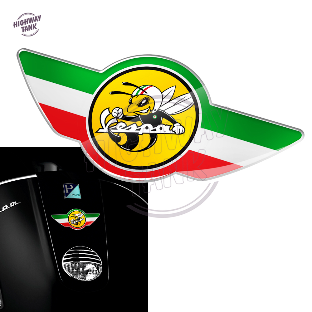 3D Motorcycle Decal Italy Flag Case For PIAGGIO VESPA Tail Decal GTS GTV 150 125 250 300 300ie Super Decals