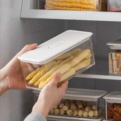Freezer Food Storage Boxes Plastic Fridge Storage Tray Rake Pantry Ktichen Organizer Container Bins Space-saving Accessories