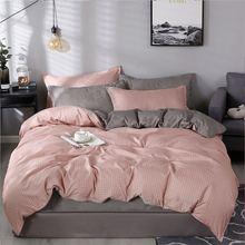 4Pcs/Set Bedding Set Bed 10 Style Home Textile Products Sheet Pillowcase & Duvet Cover Aloe Cotton Leaves Plaid Modern