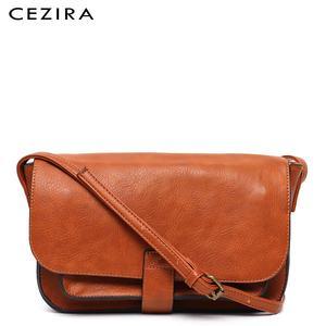 Image 1 - Bolso CEZIRA de marca de diseñador, bandolera para mujer, bolso de mano con solapa de piel vegana de alta calidad, bandolera Lisa para mujer