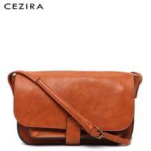 CEZIRA marque sac à bandoulière design femmes sac de messager femme de haute qualité en cuir végétalien rabat sac à main dames solide sac à bandoulière
