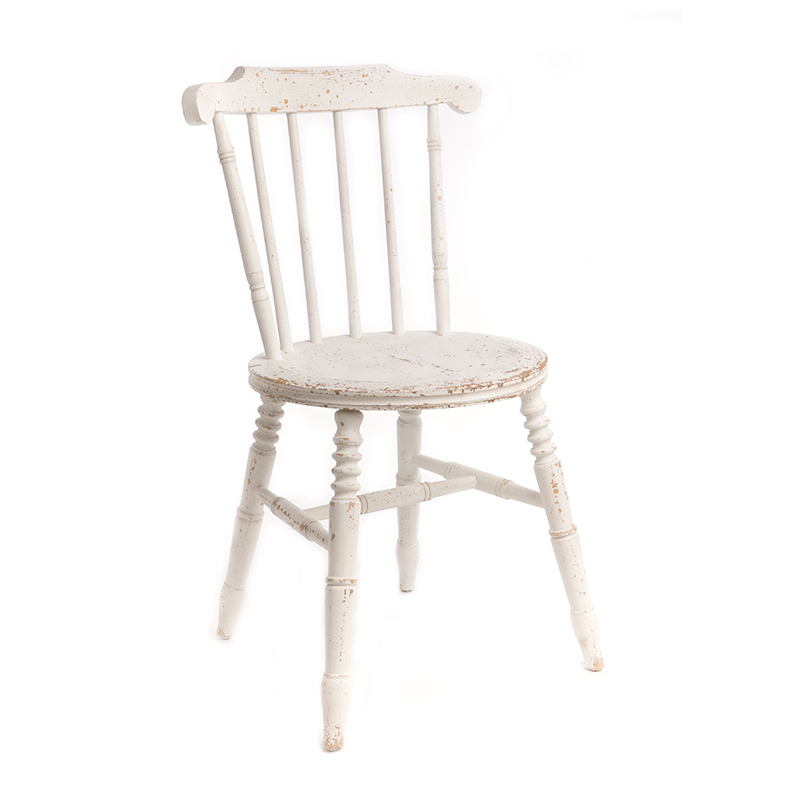 Modern Minimalist Nordic Windsor Chair Wrought Iron Coffee  Dining  Shooting Back Single