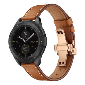 Image 2 - 20MM Replaceable Band for Garmin Vivoactive 3/Vivomove HR Bracelet Leather Strap for Samsung Galaxy Watch 3 41mm/42mm/Active 2 1