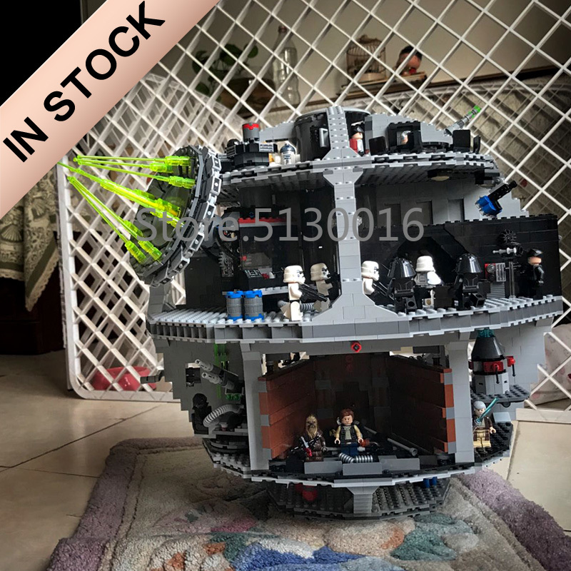 In Stock 05063 Star Series Wars Death Star Force Waken UCS 4016pcs Model Building Blocks Compatible With 75159 Toys Bricks