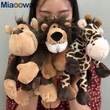 5 ピース/ロットかわいいジャングル動物ぬいぐるみぬいぐるみライオン象キリン猿の人形のおもちゃ子供のための誕生日ギフト 25 センチメートル