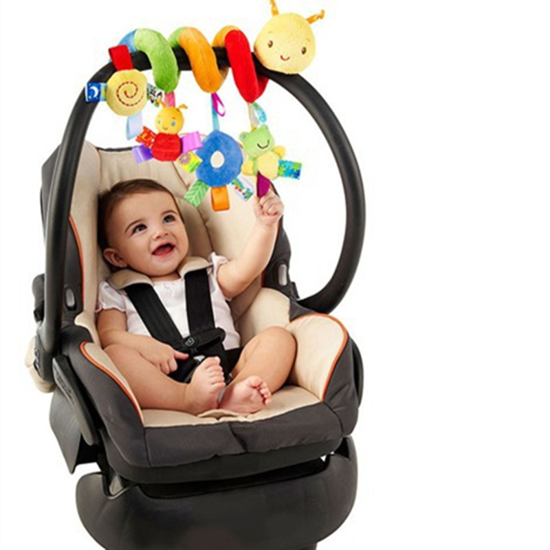 Soft Infant Crib Bed Stroller Toy Spiral Baby Toy For Newborns Car Seat Educational Rattles Baby Towel Baby Toys 0-12 Months