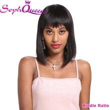 Soph queen бразильские человеческие волосы для женщин средний коэффициент не Реми 10 дюймов человеческие волосы парик, 1B,#4, 99J цвет H. BEAUTY
