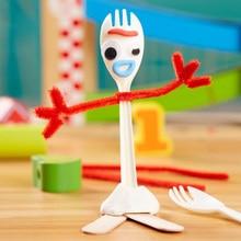 14CM Fokry DIY Manual Toy Story 4 Woody Buzz Lightyear Bunny Ducky Cartoon DIY Doll Craft Toys Educational for Children Gift Toy