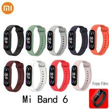 Dây Đeo Cho Xiaomi Mi Band 6 Silicone Màu Sắc Thể Thao Vòng Đeo Tay Thay Thế Cho Mi Band6