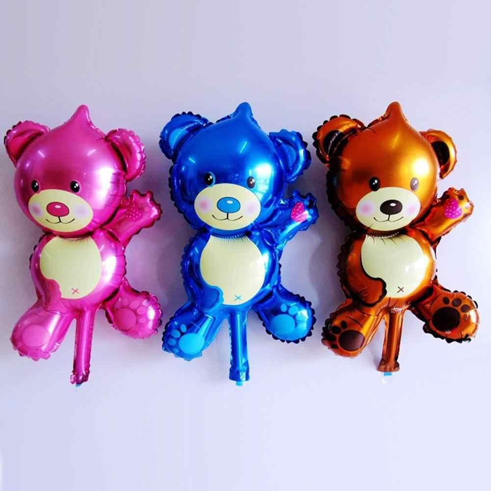 Kartun Hewan Beruang Balon Udara Pernikahan Ulang Tahun Pesta Perayaan Festival Pernikahan Dekorasi Mainan Anak Aluminium Foil Balon