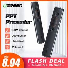Ugreen Remote Controller Presenter Wireless 2.4GHz USB Control Pen For Mac Win 10 8 7 XP Projector Powerpoint PPT Laser Pointer цены