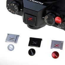 فوجي المعادن غطاء الحذاء الساخن XE4 XT20 XT30 XT3 XT4 مايكرو كاميرا واحدة مصراع زر X100V XT10 XPR03 الساخن منفذ الحذاء غطاء غبار