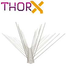 MH 04 TP 4 row pigeon spikes bird spike birds on polycarbonat base   high quality solution for bird control spikes