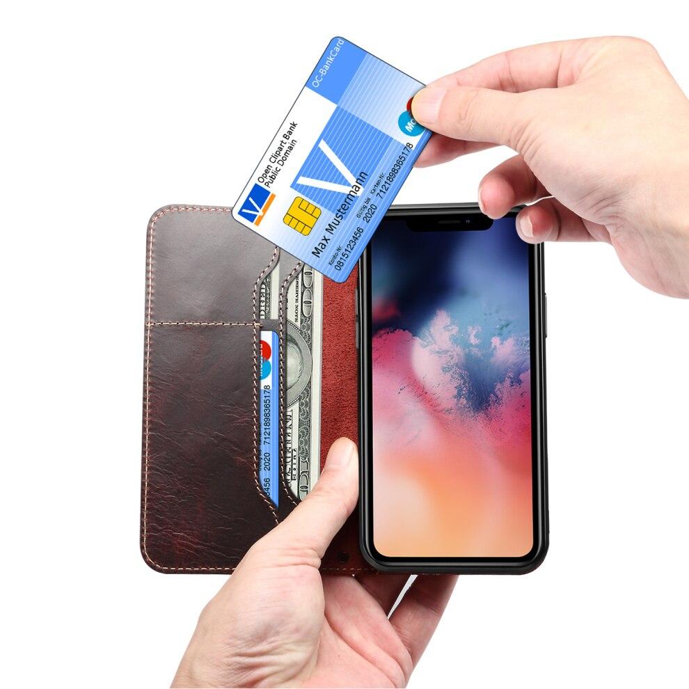 Premium Leather Magnet Button Flip Strap Case for iPhone 11/11 Pro/11 Pro Max 65