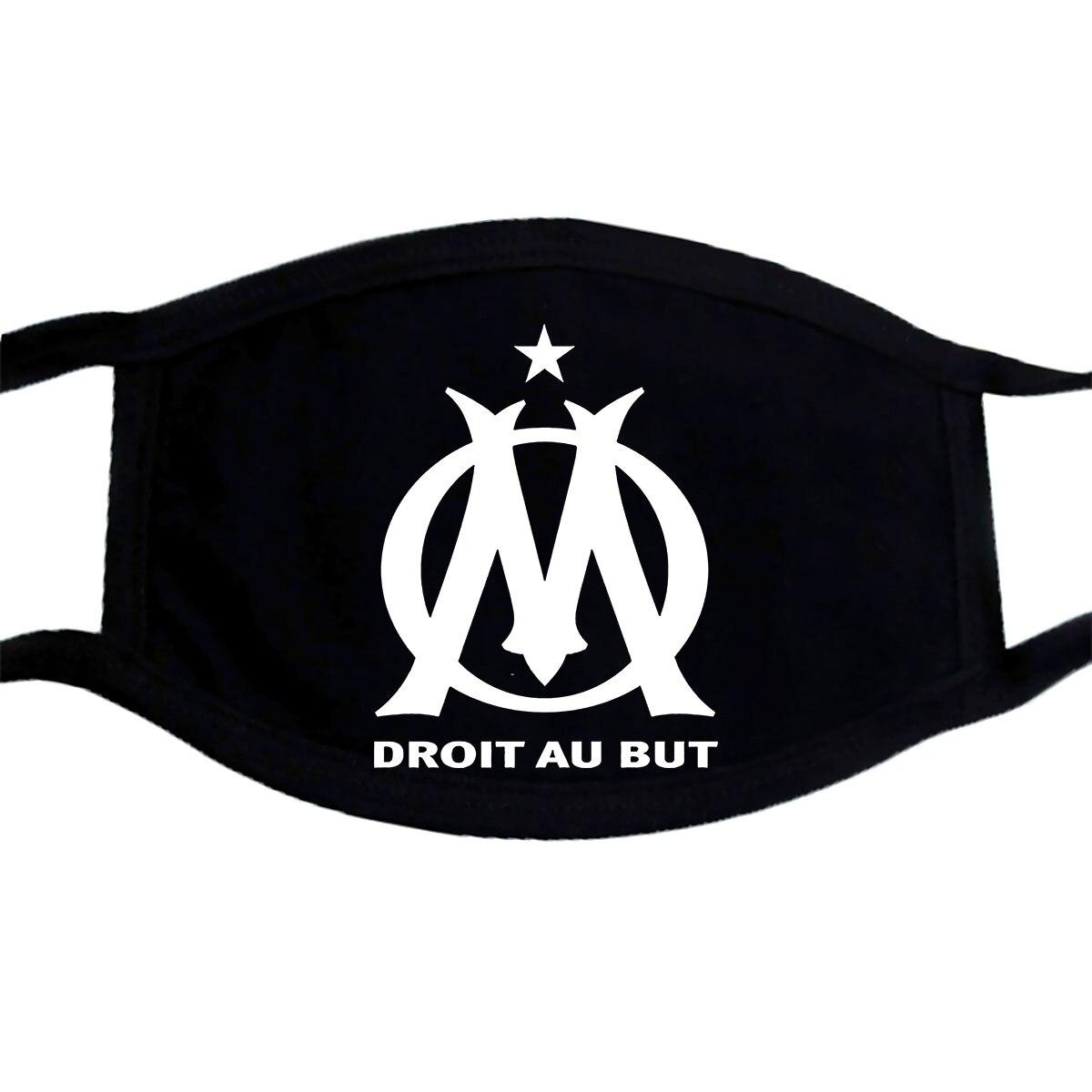Men Mask Olympique De Marseille France Soccer Tops O Neck Adult Mask Women 11