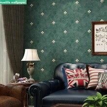 Papel pintado de flores oscuras no tejidas estilo americano Vintage jardín pequeño flor niños sala de estar dormitorio pared papel tapiz