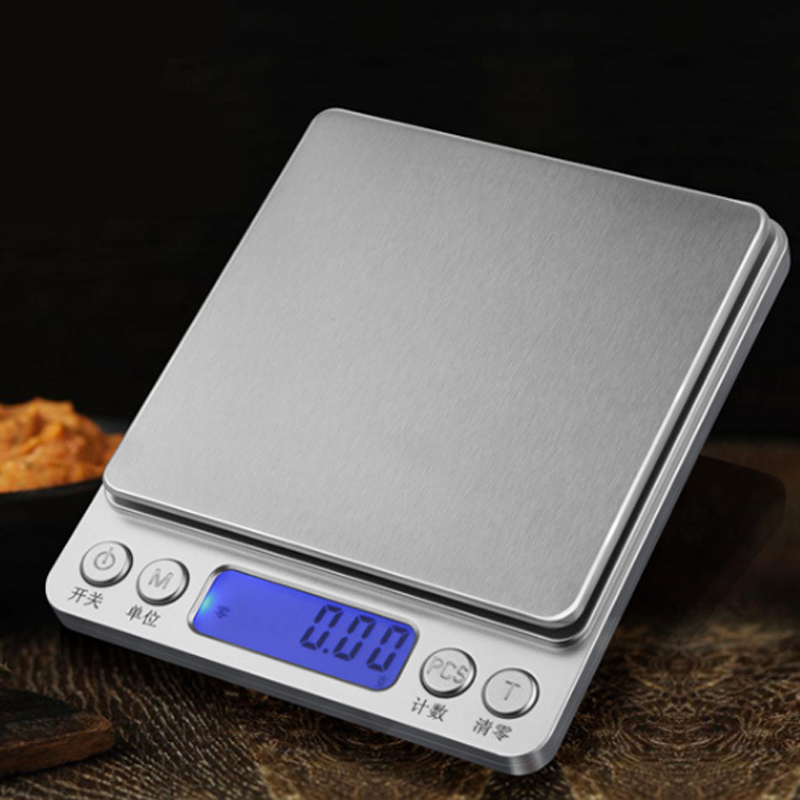 Portable Digital Bead Scale Kitchen Household Food Scale 0.1g 0.01g Precision Electronic Scale Platform Scale Without Battery