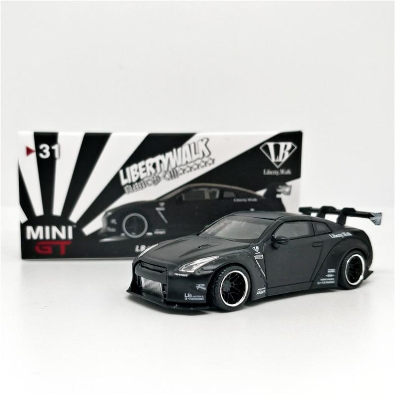 1: 64 Мини GT LB работает 2,0 Nissan GTR R35 MIJO США Эксклюзивный матовый черный LHD литая под давлением модель автомобиля