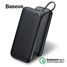 Baseus 20000mAh Power Bank Double Quick Charge 3.0 USB External Battery for iPhone 11 Pro Max 18W PD Fast Chagring Powerbank(China)