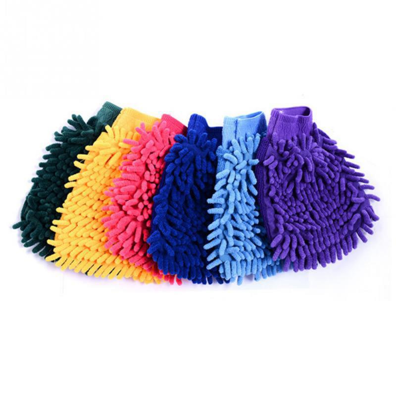 Car Cleaning Gloves Microfiber Coral Chenille Gloves Car Wash Gloves Strong Absorbent Durable Auto Kitchen Cleaning Tools