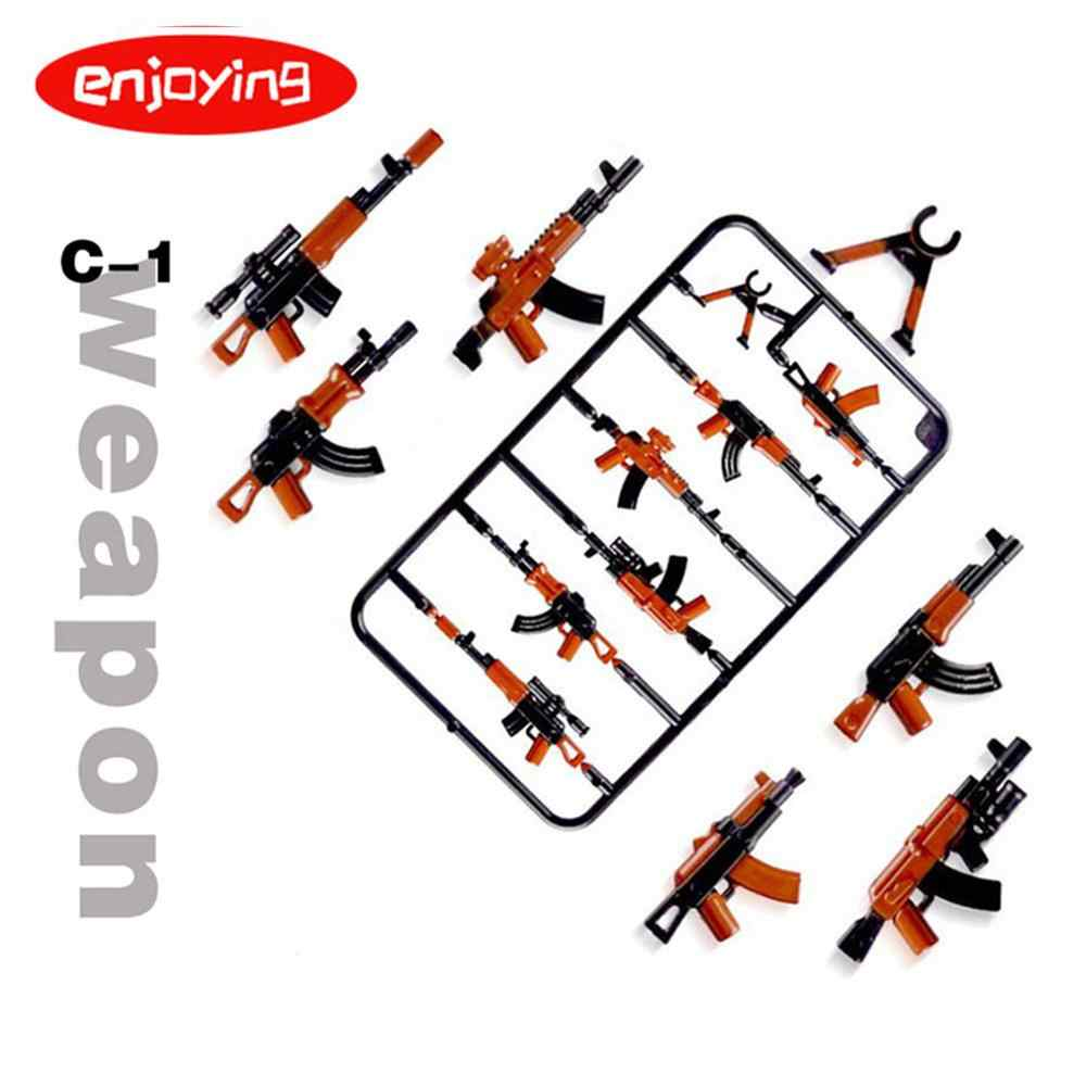 Legoing Duploed Militer Set Tentara Polisi Kota Senjata Pistol Series Pack Kota Tentara Swat Blok Bangunan Mainan untuk Anak-anak