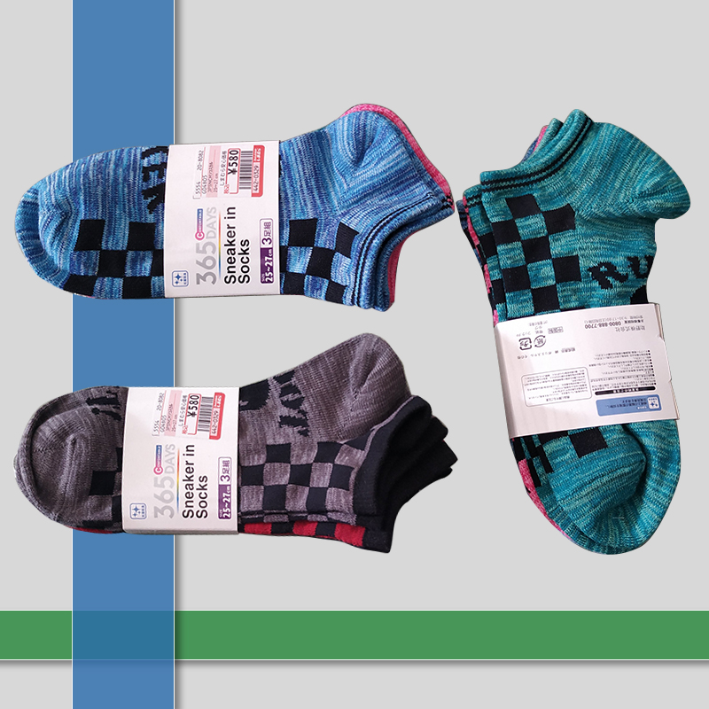 Casual sport mens color socks 3 Pairs/Lot Combed Cotton Mens Socks spring autumn funny Colorful Square men