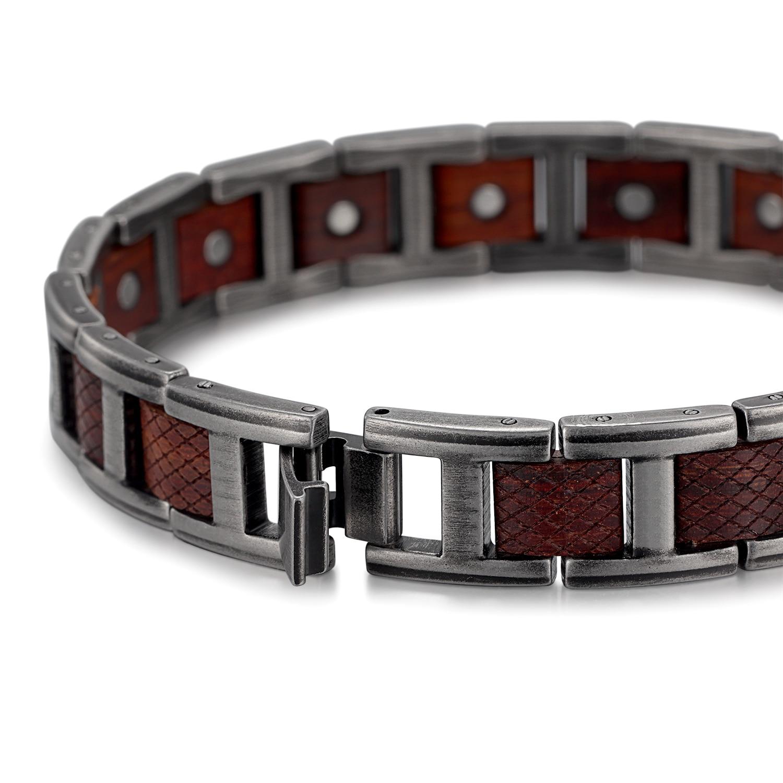 H90000717d932421eb3a14356da355501F - Zebrawood Magnetic Stainless Steel Bracelet
