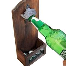 NEW Wooden Vintage Beer Opener Wall-mounted Wall Bottle