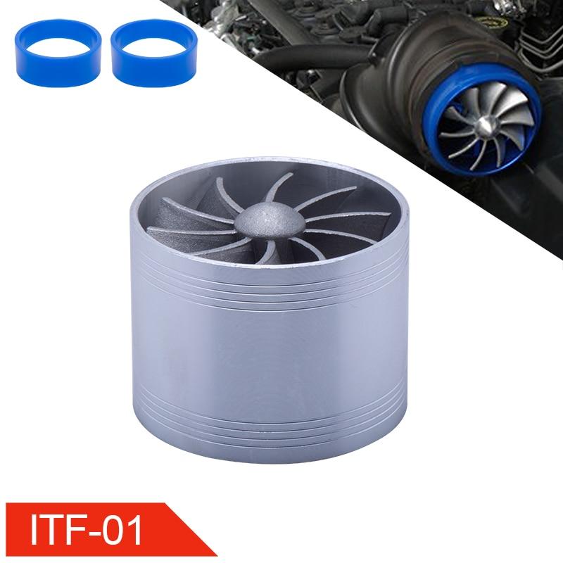 Turbina de admisión de aire Universal para coche, ventilador de ahorro de combustible y Gas Turbo de 64mm, supercargador, compatible con manguera de entrada de aire