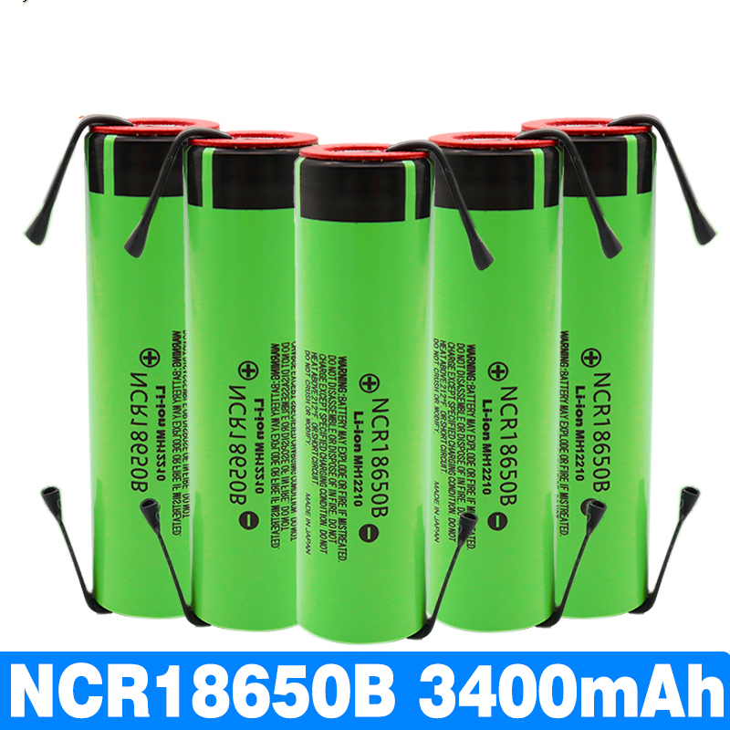 1PCS new original <font><b>NCR18650B</b></font> 3.7V 3400mAh <font><b>18650</b></font> rechargeable lithium battery for battery + DIY nickel piece image