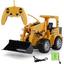 HOT SALES!!!Remote Control Simulation Excavator Engineering Car Model Children Toy Gift
