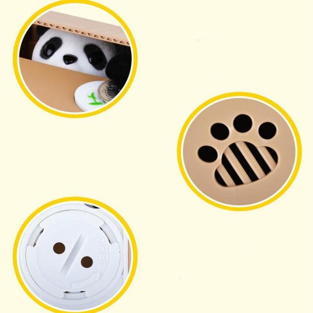 1 Pc voler automatiquement pièce dépôt réservoir jouets éducatifs dessin animé chat chien cochon banque pour enfants anniversaire joue jeux drôles