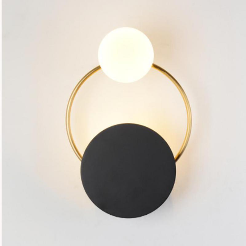 Modern Wall Lamp Simple Led Bedroom Bedside Wall Light Creative Corridor Hotel Living Room Decoration <font><b>G9</b></font> Led Mirror Light image