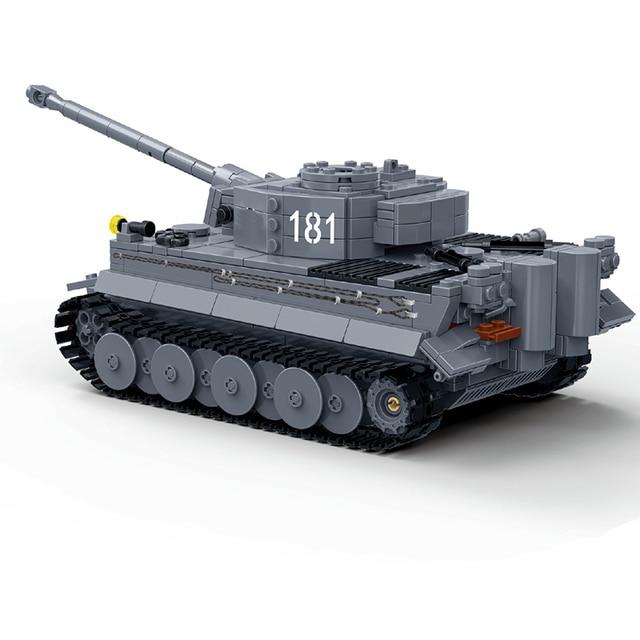 Novo Compatível Legoes Militar ww2 Alemão King Tiger Caminhão Tanque de Guerra Mundial Soldados Do Exército Building Blocks Brinquedos Para Crianças