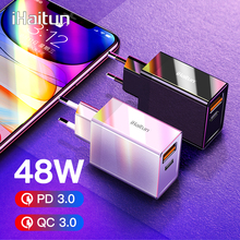 iHaitun 48W USB Charger PD Type C Quick Charge 4.0 3.0 QC Fast Mini Travel Charger For iPhone 11 Pro Max Samsung S10 Plus 30W PD type c pd test board burn in board decoy test protocol board pd fast charge