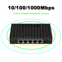 Interruptor inteligente de 5 puertos Gigabit, conmutador de red Ethernet de alto rendimiento, 1000mbps, RJ45 Hub, divisor de Internet