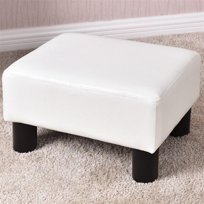 Pu Leather Footstool Rectangular