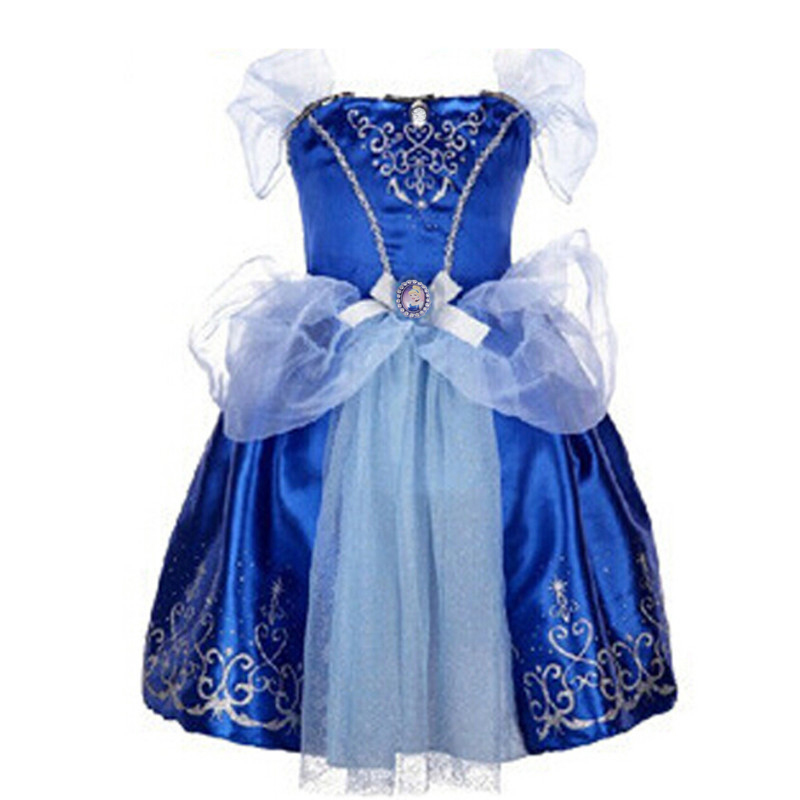 Image 5 - 2019 Girls Dress Cinderella Costume Kids Rapunzel Belle Sofia Sleeping Beauty Princess Dress Children Halloween Party Dress Upcinderella costumecostume for kidsdress cinderella -