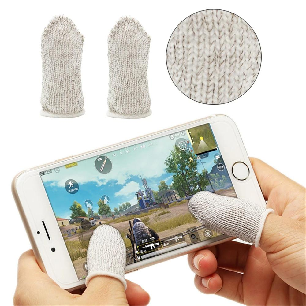 1 Pair Finger Cots For PUBG Mobile Game Controller Sweatproof Breathable Mobile Finger Sleeve Accessories For Iphone Adnroid