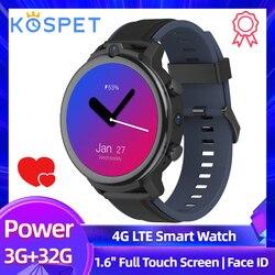 """2020 nowy KOSPET moc 3GB 32GB inteligentny zegarek mężczyźni 1.6 """" Android 7.1 Face ID 900mAh podwójny aparat GPS WiFi karty Sim 4G zegarek Smartwatch z telefonem"""