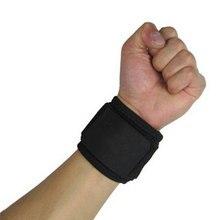 Повязка на запястье, ремешок для спортзала, защитная опора на запястье для мужчин, регулируемый спортивный браслет, нейлон, черный, отлично подходит для волейбола, тенниса, прочный