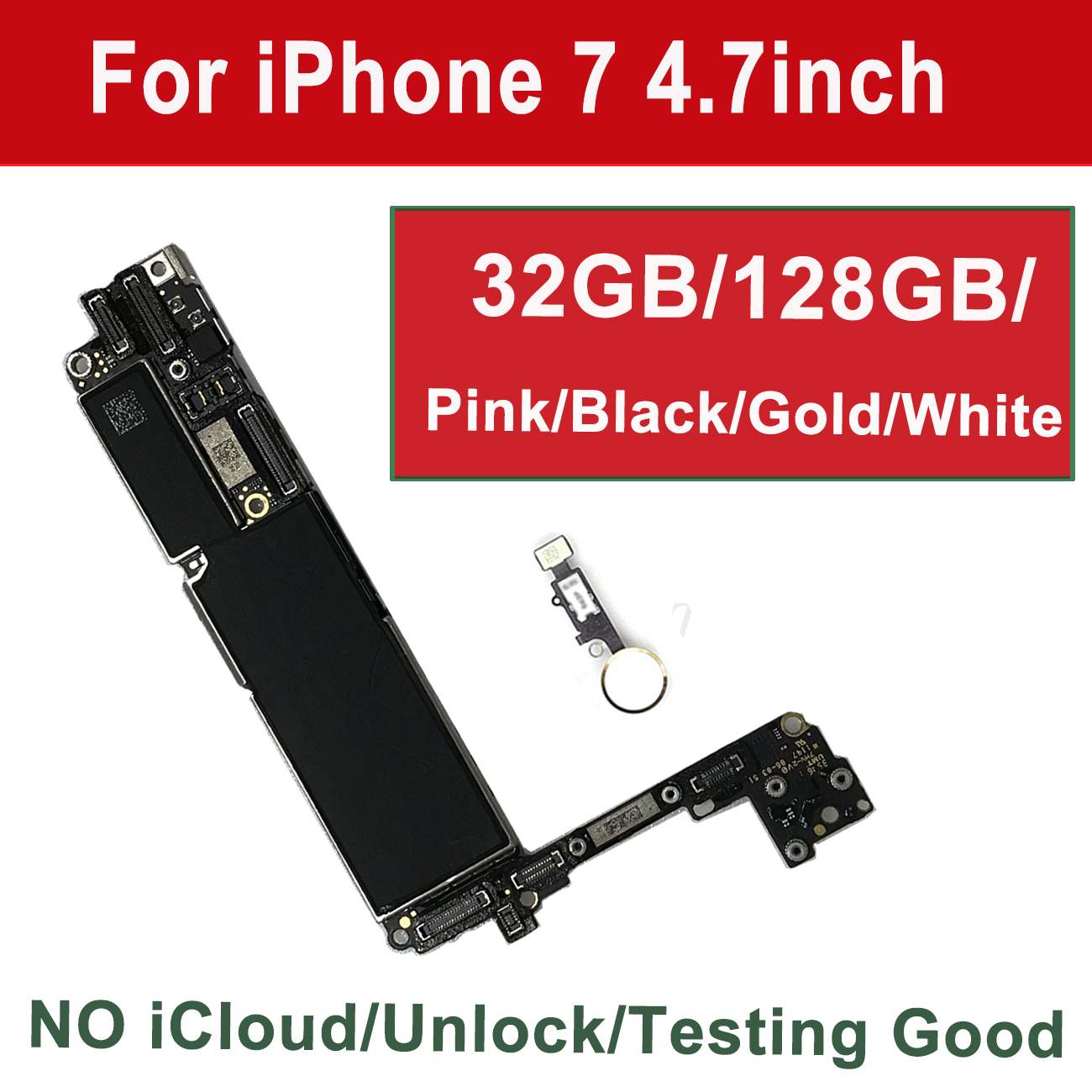 32GB/ 128GB/ 256GB For IPhone 7 Motherboard Without /with Touch ID,Original Unlocked For Iphone7 Logic Board With Chips