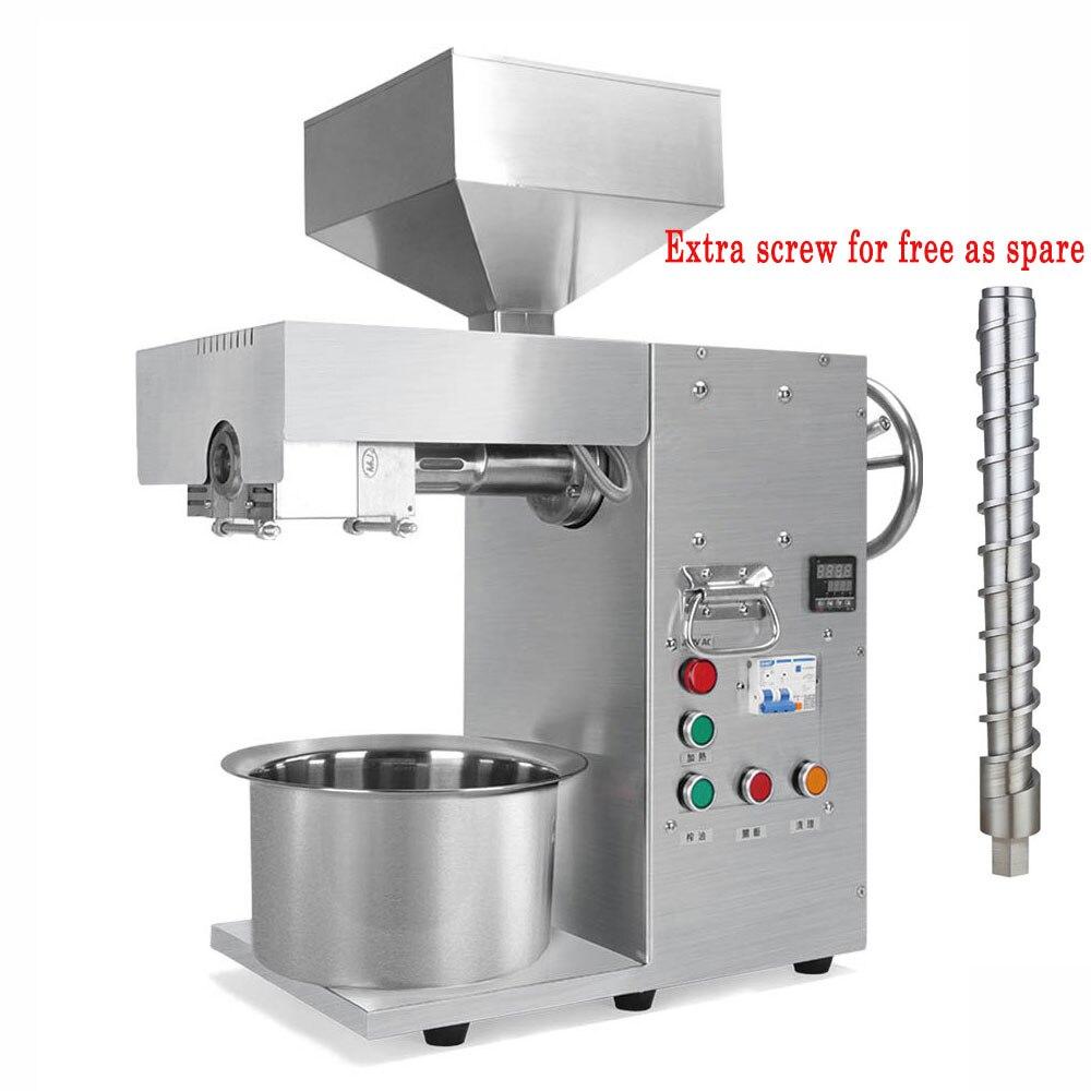 Автоматическая машина для прессования масла из нержавеющей стали, маленькая Коммерческая Машина Для Экстракции конопляного кокосового ми...