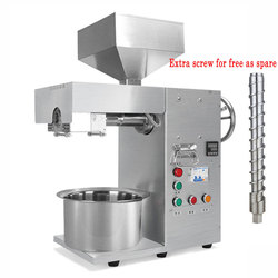 Stainless steel automatic oil press machine small commercial oil presser hemp coconut almond oil extractor machine 50Hz/60Hz