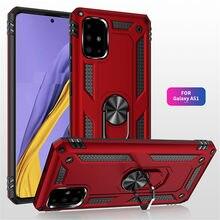 Odporny na wstrząsy pancerz etui na telefony dla Huawei P30 Pro P30 Lite magnetyczny pierścień stań pokrywy dla Huawei P Smart 2019 Shell przypadki Coque