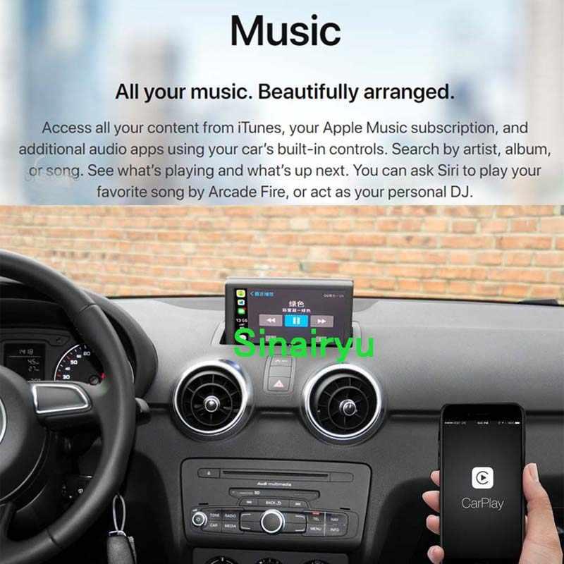 2019 ワイヤレス Apple CarPlay アウディ A1 A3 A4 A5 A6 A7 A8 Q2 Q3 Q5 Q7 MMI 車再生 android の自動ミラー逆カメラ