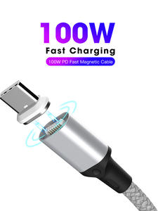 SIKAI Charging-Cable Laptop Fast-Charge Magnetic Ctoc Macbook USB-C 100W PD C To Type-C