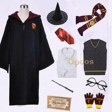 Поттер колледж форма Гриффиндора Гермиона Грейнджер Косплей Костюм для взрослых детей версия Хэллоуин вечерние халат костюм подарок